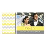 Lemon Gray Thank You Wedding Photo Cards