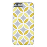 Lemon Grey and White Entwined Pattern iPhone 6 Case