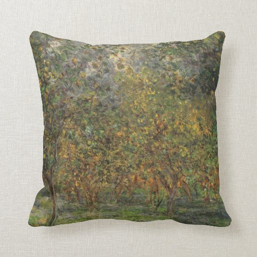 Lemon Grove en Bordighera de Claude Monet Almohada