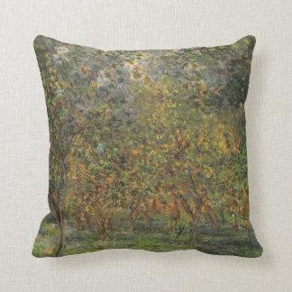 Lemon Grove en Bordighera de Claude Monet Cojín