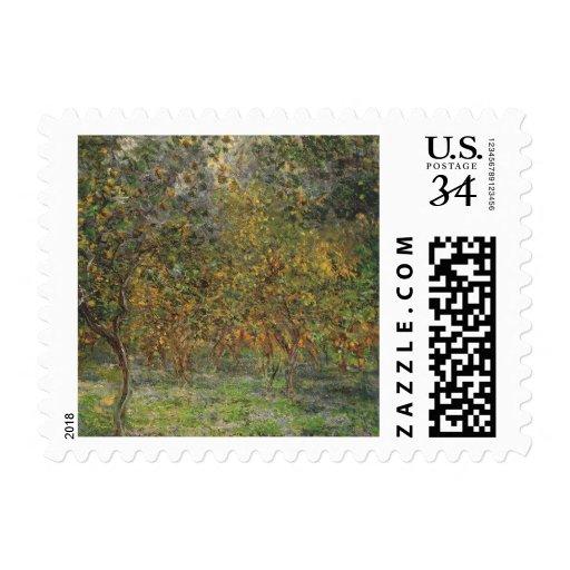 Lemon Grove en Bordighera de Claude Monet Sello