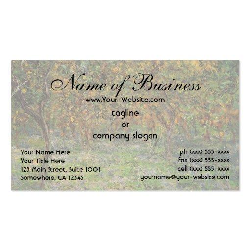 Lemon Grove en Bordighera de Claude Monet Plantillas De Tarjeta De Negocio