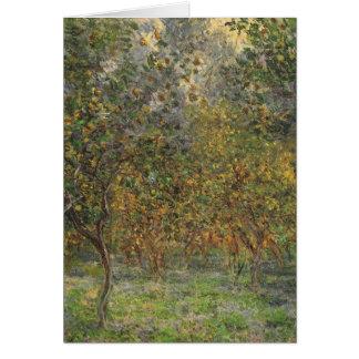 Lemon Grove en Bordighera de Claude Monet Tarjeta De Felicitación