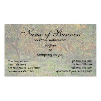 Lemon Grove en Bordighera de Claude Monet Tarjetas De Visita