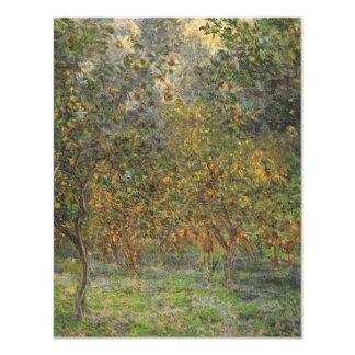 Lemon Grove in Bordighera by Claude Monet 4.25x5.5 Paper Invitation Card