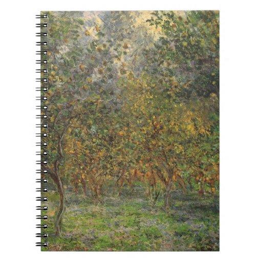 Lemon Grove in Bordighera by Claude Monet Spiral Notebook