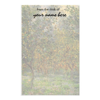 Lemon Grove in Bordighera by Claude Monet Stationery