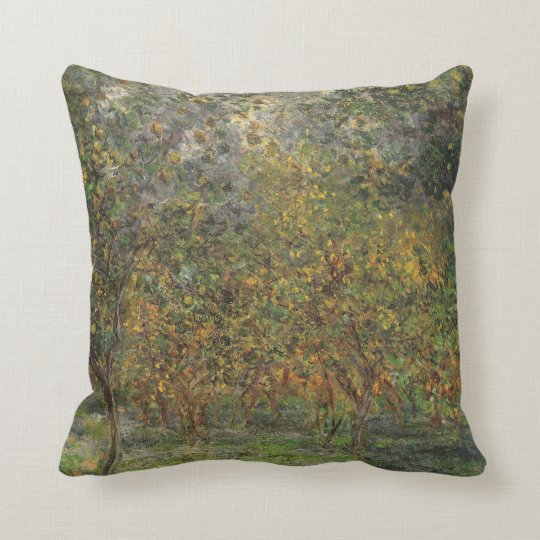 Lemon Grove in Bordighera by Claude Monet Throw Pillow