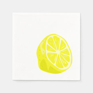Lemon Half Cocktail Napkins