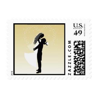 Lemon Heart Bride And Groom Silhouette Stamp