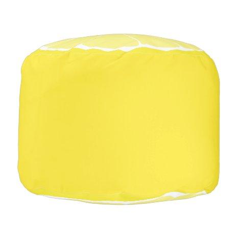 Lemon Home Decor, Lemon Ottoman Seat, Lemon Decor