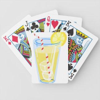 Lemon Iced Tea Bicycle Poker Cards