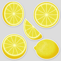 Lemon Icon Set Stickers
