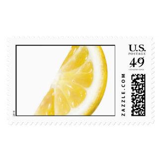 Lemon illustration postage