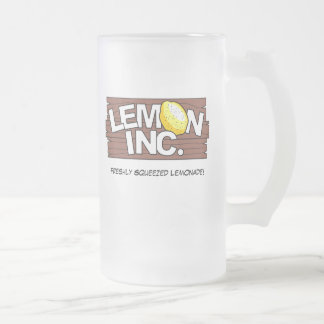 Lemon Inc. Logo Glass Mug