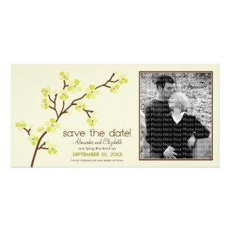 Lemon/Ivory Cherry Blossom Save the Date Photocard Photo Card