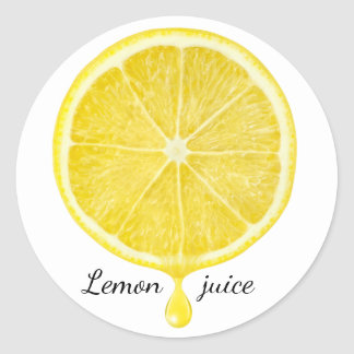 Lemon juice classic round sticker