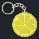 """Lemon Keychain<br><div class=""""desc"""">Lemon slice design</div>"""