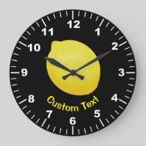 Lemon Large Clock