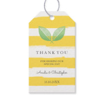 Lemon Leaves Yellow & Green | Wedding Thank You Gift Tags
