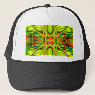 Lemon Lime Bending Lines By BethofArt Trucker Hat