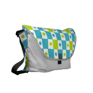 Lemon Lime Checkerboard Courier Bags