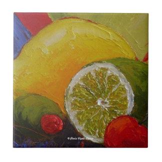 Lemon Lime Cherry Tiles