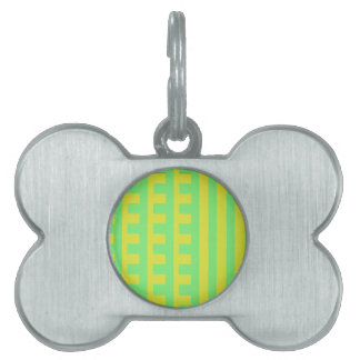 Lemon Lime Combs Tooth Pet ID Tags