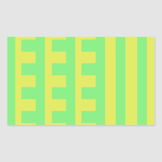 Lemon Lime Combs Tooth Rectangular Sticker
