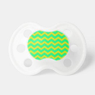 Lemon Lime Green Zigzags Pacifier