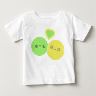 Lemon Lime Heart Kawaii infant t-shirt
