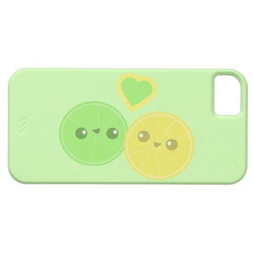 Lemon Lime Heart Kawaii iPhone Case