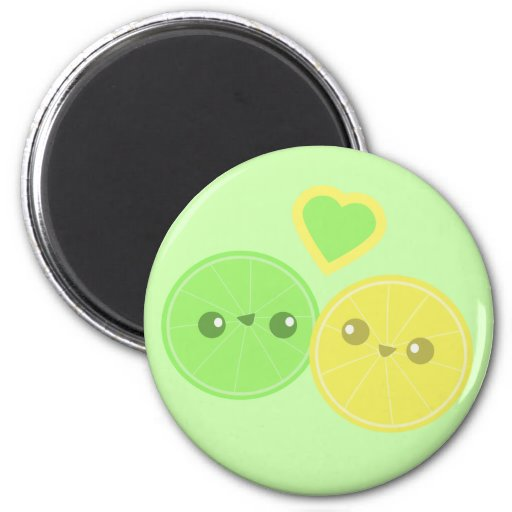 Lemon Lime Heart Kawaii magnet