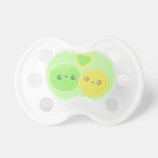 Lemon Lime Heart Kawaii pacifier BooginHead Pacifier