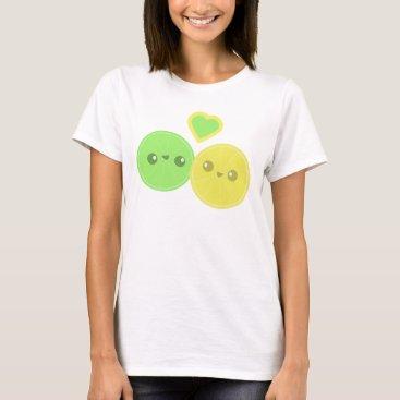 Valentines Themed Lemon Lime Heart Kawaii T-shirt