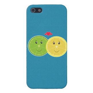 Lemon & Lime Love Kawaii Vector iPhone SE/5/5s Cover