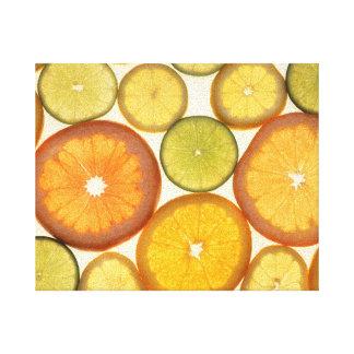 Lemon Lime Orange Grapefruit Citrus Fruit Slices Canvas Print