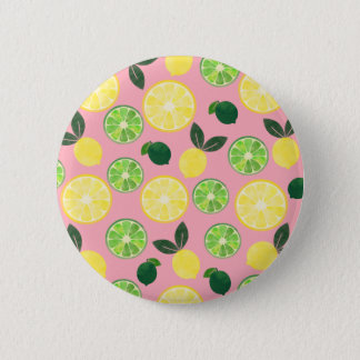 Lemon Lime Pink Pinback Button