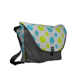 Lemon Lime Planets Courier Bag