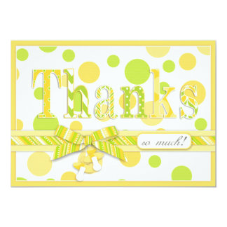Lemon Lime Polka Dots Thank You Baby Shower Card