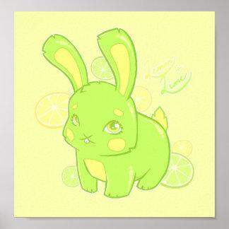 Lemon Lime Rabbit Print