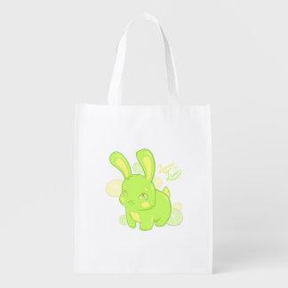 Lemon Lime Rabbit Reusable Grocery Bags