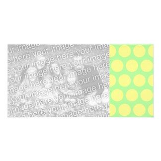 Lemon Lime Sherbet Polka Dots Card