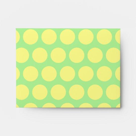 Lemon Lime Sherbet Polka Dots Envelope