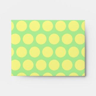 Lemon Lime Sherbet Polka Dots Envelopes