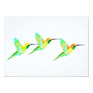 Lemon Lime Sorbet Hummingbirds Personalized Invitation