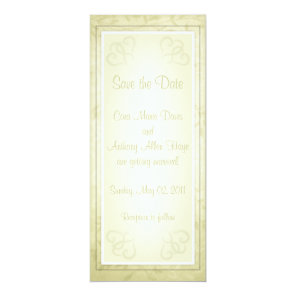 Lemon Lime Spring Leaves Save the Date cards