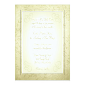 Lemon Lime Spring Leaves Wedding Invitations