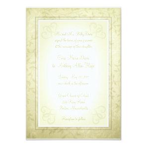 Lemon Lime Spring Leaves Wedding Invitations