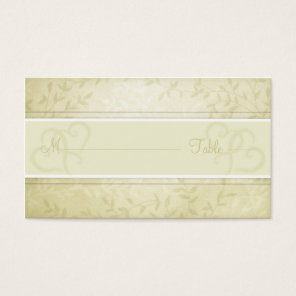 Lemon Lime Spring Leaves Wedding Place cards